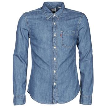 Odjeća Muškarci  Košulje dugih rukava Levi's SUNSET 1 PKT SLIM Blue