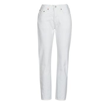 Odjeća Žene  Boyfriend traperice Levi's 501 CROP Bijela