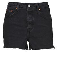 Odjeća Žene  Bermude i kratke hlače Levi's RIBCAGE SHORT Crna