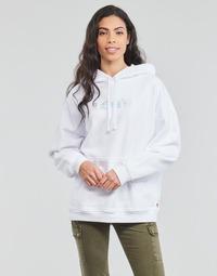 Odjeća Žene  Sportske majice Levi's GRAPHIC RIDER HOODIE Hoodie / Rider / Bijela