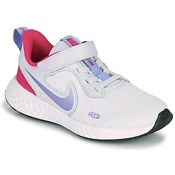 Obuća Djevojčica Multisport Nike REVOLUTION 5 PS Blue / Ljubičasta