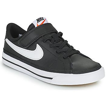 Obuća Djeca Niske tenisice Nike NIKE COURT LEGACY Crna / Bijela