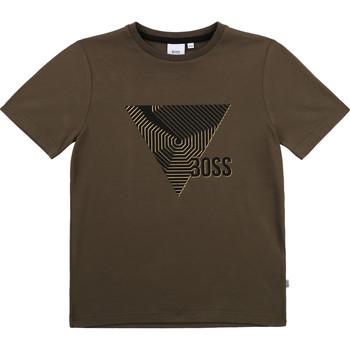 Odjeća Dječak  Majice kratkih rukava BOSS J25L02-64C-B Kaki
