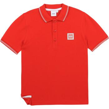 Odjeća Dječak  Polo majice kratkih rukava BOSS BARBORA Red
