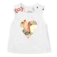 Odjeća Djevojčica Majice s naramenicama i majice bez rukava Ikks XS10030-19 Bijela