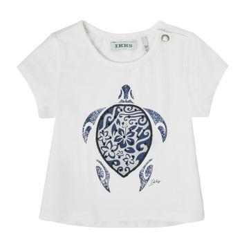 Odjeća Djevojčica Majice kratkih rukava Ikks XS10070-19 Bijela