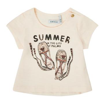 Odjeća Djevojčica Majice kratkih rukava Ikks XS10090-11 Bijela