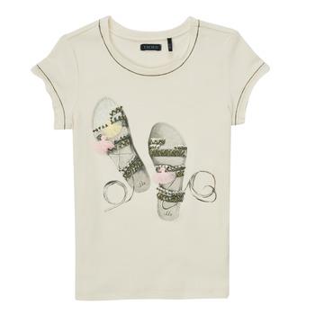 Odjeća Djevojčica Majice kratkih rukava Ikks XS10132-11-C Bijela