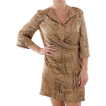 Odjeća Žene  Kratke haljine Sandro Ferrone ZANZARA CAMMELLO Marrón
