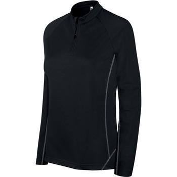 Odjeća Žene  Gornji dijelovi trenirke Proact Sweat femme  Running 1/4 Zip noir
