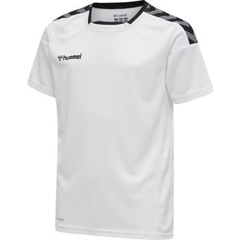 Odjeća Djeca Majice kratkih rukava Hummel Maillot  enfant hmlAUTHENTIC Poly HML blanc/rouge