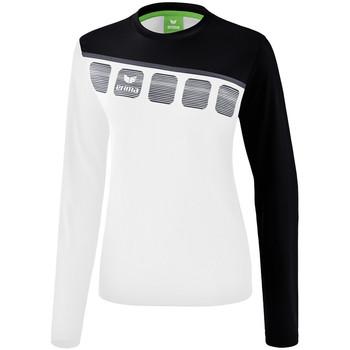 Odjeća Žene  Sportske majice Erima Haut d'entrainement femme manches longues  5-C blanc/noir/gris