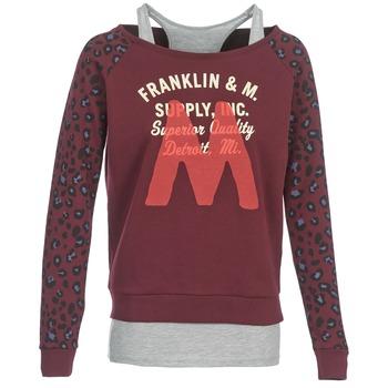 Odjeća Žene  Sportske majice Franklin & Marshall MANTECO Bordó / Grey