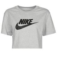 Odjeća Žene  Majice kratkih rukava Nike NSTEE ESSNTL CRP ICN FTR Siva / Crna