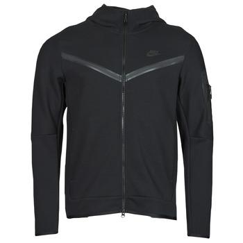 Odjeća Muškarci  Gornji dijelovi trenirke Nike NSTCH FLC HOODIE FZ WR Crna