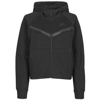 Odjeća Žene  Gornji dijelovi trenirke Nike NSTCH FLC WR ESSNTL FZ HDY Crna