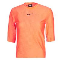 Odjeća Žene  Majice kratkih rukava Nike NSICN CLSH TOP SS MESH Narančasta