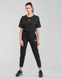 Odjeća Žene  Donji dio trenirke Nike NSMLNESSNTL FLC MR JGGR Crna / Bijela
