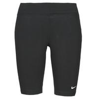 Odjeća Žene  Tajice Nike NSESSNTL MR BIKER SHORT Crna / Bijela