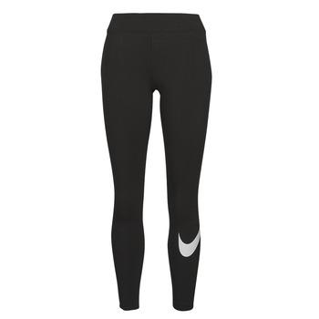 Odjeća Žene  Tajice Nike NSESSNTL GX MR LGGNG SWSH Crna / Bijela