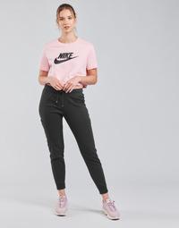 Odjeća Žene  Donji dio trenirke Nike NSAIR PANT FLC MR Crna / Bijela