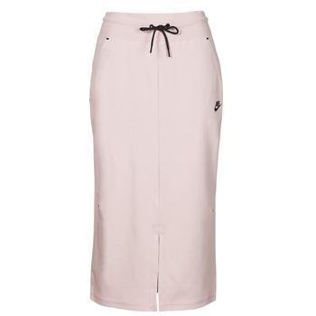 Odjeća Žene  Suknje Nike NSTCH FLC SKIRT Bež / Crna
