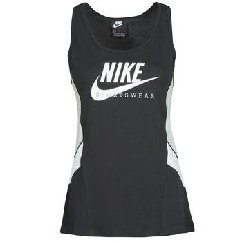 Odjeća Žene  Majice s naramenicama i majice bez rukava Nike NSHERITAGE TTOP HBR Crna / Siva / Bijela