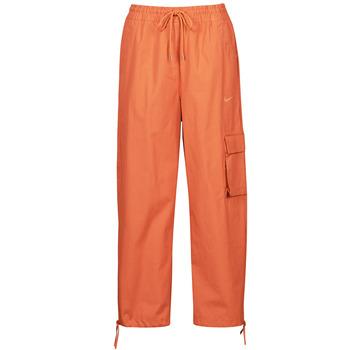 Odjeća Žene  Donji dio trenirke Nike NSICN CLASH PANT CANVAS HR Smeđa / Narančasta