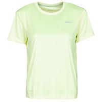 Odjeća Žene  Majice kratkih rukava Nike MILER TOP SS Zelena / Siva