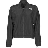 Odjeća Žene  Vjetrovke Nike AIR JACKET Crna / Srebrna