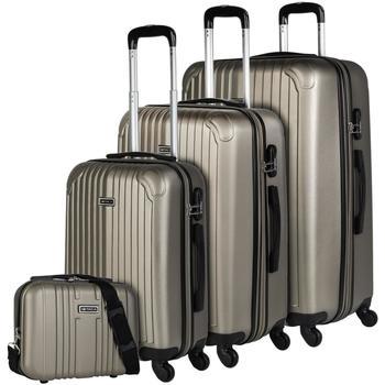 Torbe Čvrsti kovčezi Itaca SEVRON Set 3 vrecice plus potreba Sampanjac