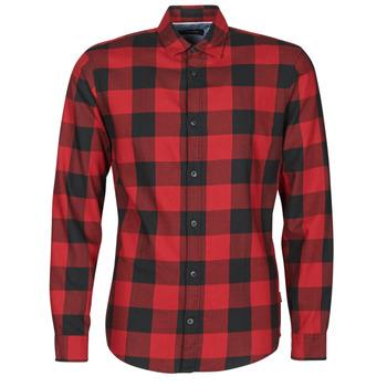Odjeća Muškarci  Košulje dugih rukava Jack & Jones JJEGINGHAM Red / Crna