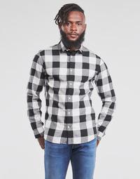 Odjeća Muškarci  Košulje dugih rukava Jack & Jones JJEGINGHAM Bijela / Crna