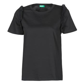 Odjeća Žene  Majice kratkih rukava Benetton MARIELLA Crna