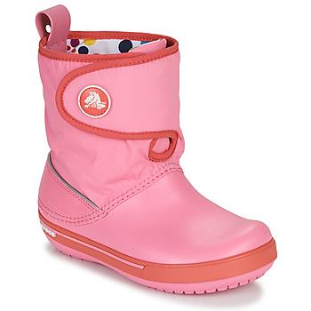 Obuća Djeca Čizme za snijeg Crocs CROCBAND ll.5 GUST BOOT KIDS PLEM PPY Ružičasta