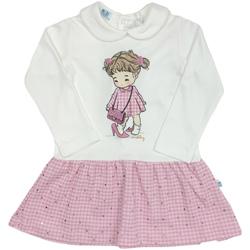 Odjeća Djevojčica Kratke haljine Melby 20A0011 Bijela