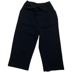 Odjeća Djevojčica Chino hlačei hlače mrkva kroja Losan 026-6793AL Crno