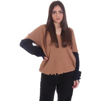Odjeća Žene  Puloveri P-Jean 1X109Q Y4ZX Bež