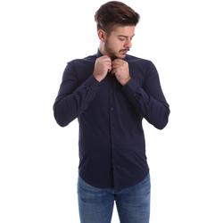 Odjeća Muškarci  Košulje dugih rukava Automatic CAU22400 Plava