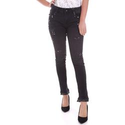 Odjeća Žene  Slim traperice Fracomina F120W10002D00304 Crno