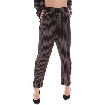 Odjeća Žene  Chino hlačei hlače mrkva kroja Gaudi 021FD25017 Crno