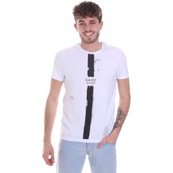 Odjeća Muškarci  Majice kratkih rukava Gaudi 021GU64035 Bijela