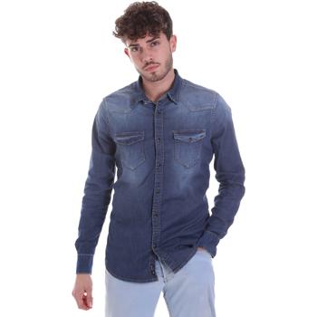Odjeća Muškarci  Košulje dugih rukava Gaudi 021GU46001 Plava
