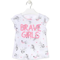 Odjeća Djevojčica Majice / Polo majice Losan 017-1016AL Bijela