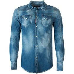 Odjeća Muškarci  Košulje dugih rukava Dsquared  Blue