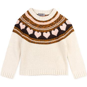 Odjeća Djevojčica Puloveri Losan 026-5001AL Bijela