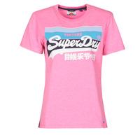 Odjeća Žene  Majice kratkih rukava Superdry VL CALI TEE 181 Ružičasta