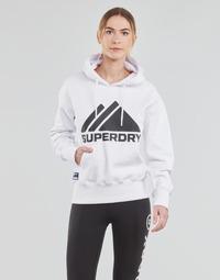 Odjeća Žene  Sportske majice Superdry MOUNTAIN SPORT MONO HOOD Bijela