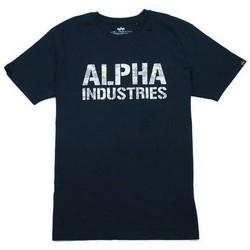 Odjeća Muškarci  Majice kratkih rukava Alpha T-shirt  Camo Print bleu nuit/blanc
