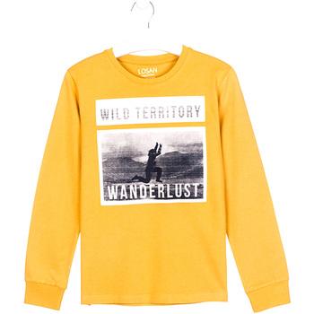 Odjeća Djeca Majice dugih rukava Losan 023-1027AL Žuta boja